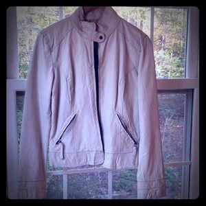 BB Dakota Moto cream leather jacket MED